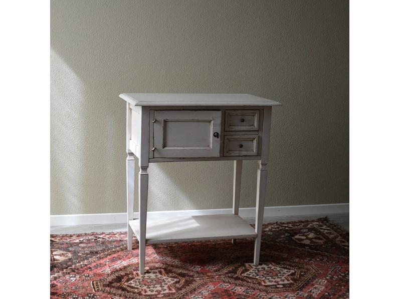 Tavolino Rettangolare Provenzale In Stile Shabby Chic Scontato Del 27
