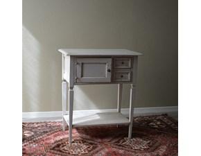 Tavolino rettangolare Provenzale in stile Shabby Chic. Il tavolino è realizzato in legno massello ed è rifinito in laccatura Shabby chic. Scontato del -27%. Offerta Outlet Mobilgross