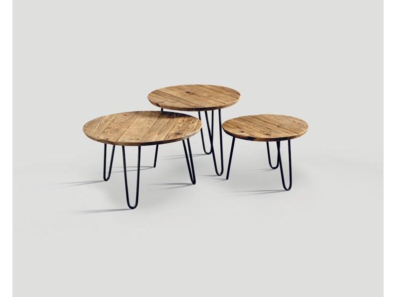 Tavolino set 3 pezzi di Dialma Brown - FERRO BRUNITO E LEGNO ...