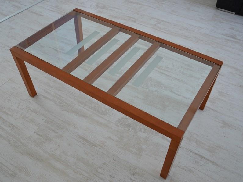 Tavolini Soggiorno Ciliegio : Tavolino soggiorno in ciliegio e vetro