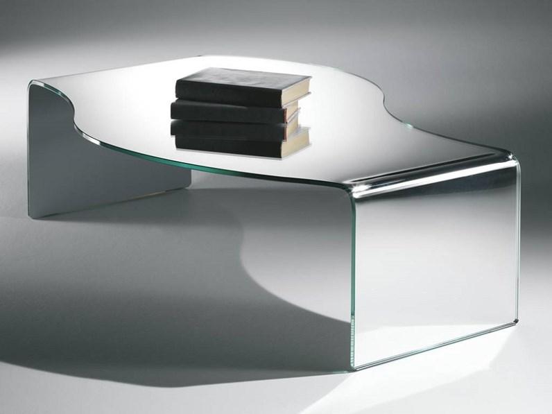 Tavolino stile Moderno Artigianale Tavolino mod.party in vetro curvato  scontato del 30% a prezzo scontato