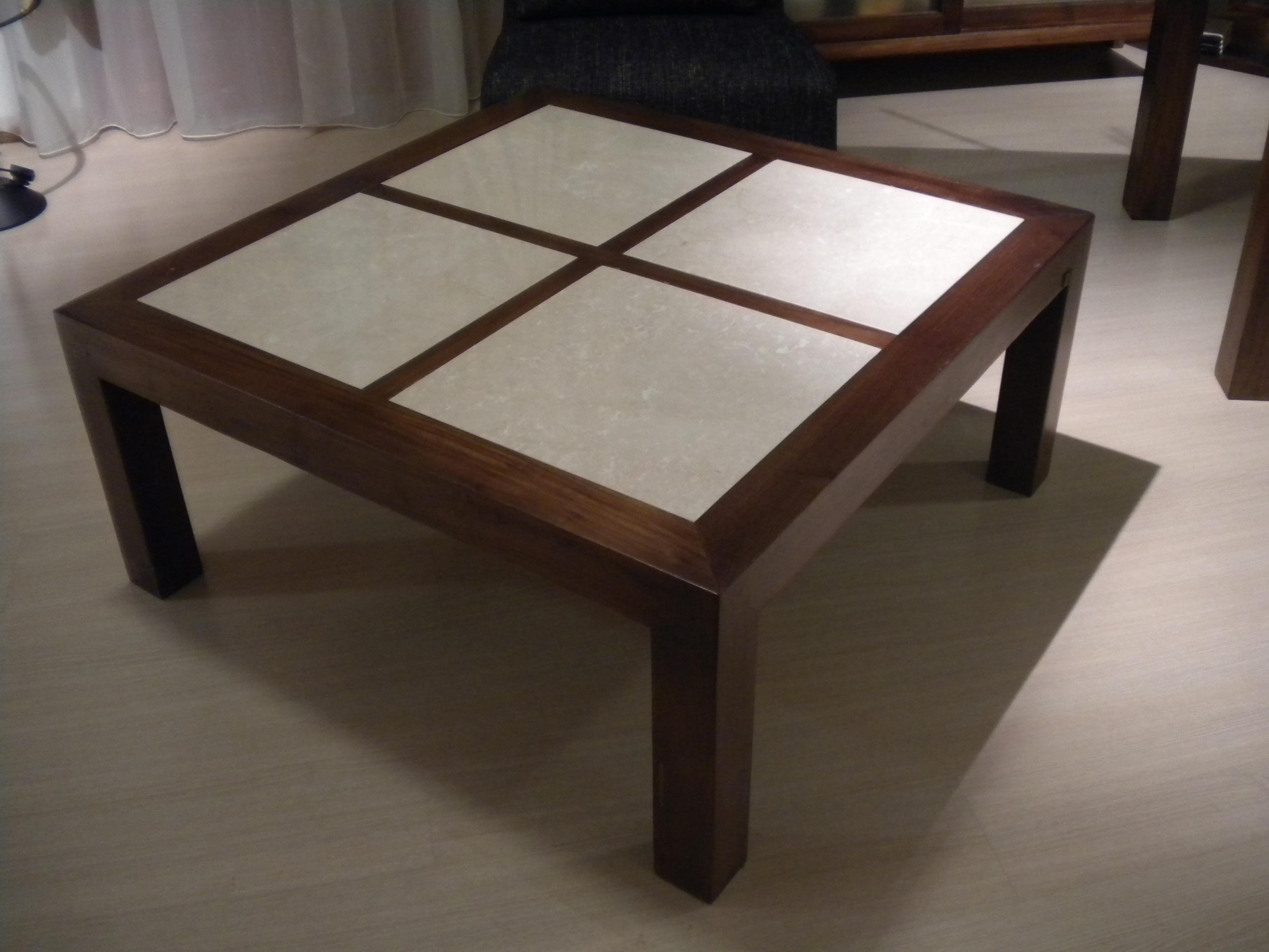 Tavolino teak marmo scontato complementi a prezzi scontati for Castellucci arredamenti