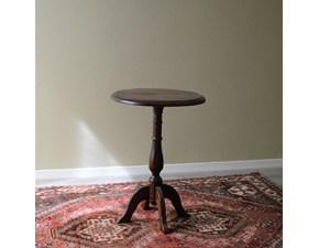 Tavolino Tondo in stile. Il tavolino è rifinito con lucidatura eseguita a mano. Scontato del -53%. Offerta Outlet Mobilgross