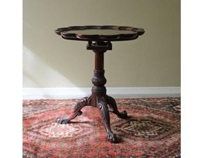 Tavolino Tondo in stile. Il tavolino è rifinito con lucidatura eseguita a mano. Scontato del -69%. Offerta Outlet Mobilgross