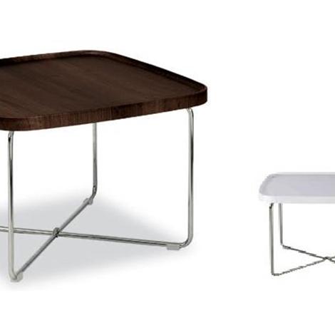 Tavolino da salotto Tray con piano bianco lucido ...