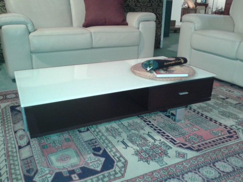 Tavolino wenghe 39 piano bianco vetro for Longhi arredamenti