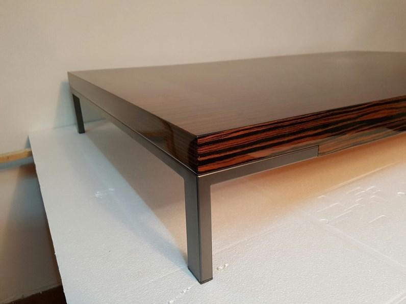 Tavolino zanotta romeo ebano lucido in laccato lucido a