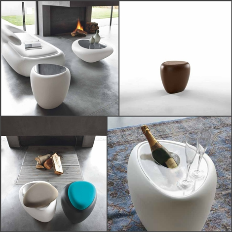 outlet Tonin Casa Complemento Ios tavolino pouff Design