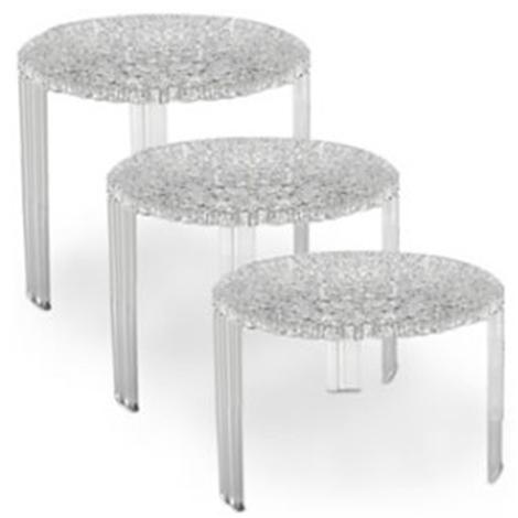 Tris tavolini kartell t table trasparenti complementi a - Tris di tavolini ...