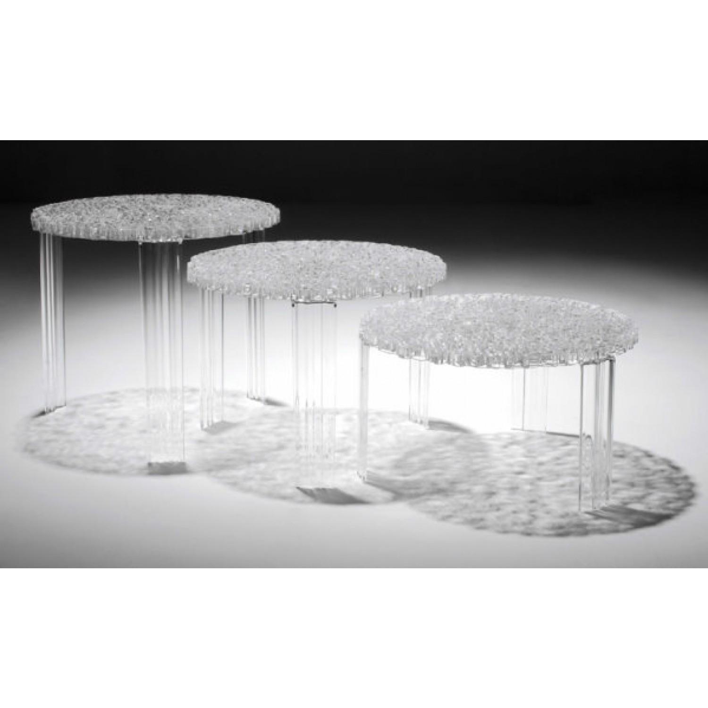 tris tavolini kartell t table trasparenti complementi a