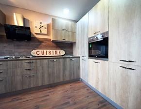 cucina angolare maxi  con colonne dispensa e forno/frigo in super  offerta outlet