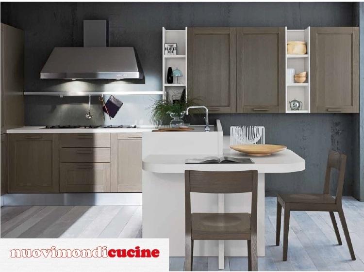 Cucina industrial vintage moderna con penisola in offerta - Penisola cucina moderna ...
