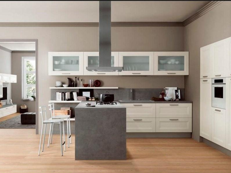 Cucina vintage moderna con penisola ardesia in offerta - Top cucina ardesia ...