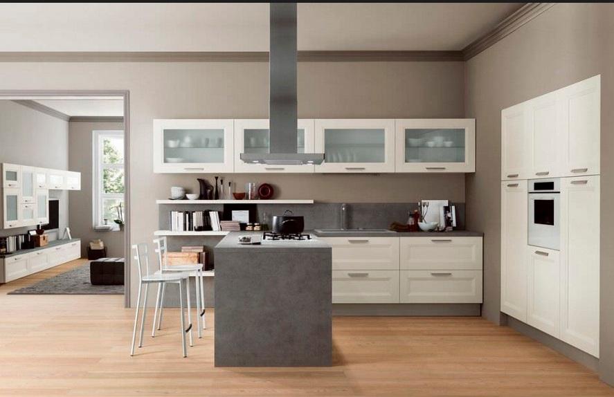 Cucina vintage moderna con penisola ardesia in offerta cucine a prezzi scontati - Cucina con penisola ...