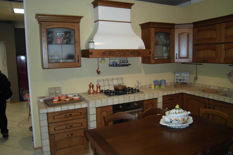 LUBE CUCINE MILVA IN CASTAGNO - Cucine a prezzi scontati
