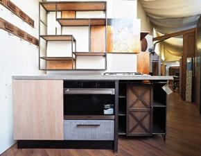 monoblocco Cucina lineare in legno  industriale