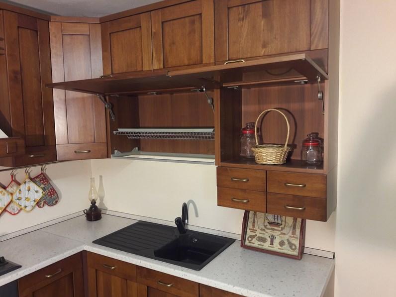 Cucina angolare in legno tinto noce completa di elettrodomestici in ...