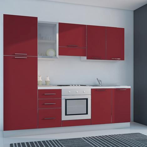 outlet Ar-Due Cucina Sesamo Moderne Laminato Opaco Rossa