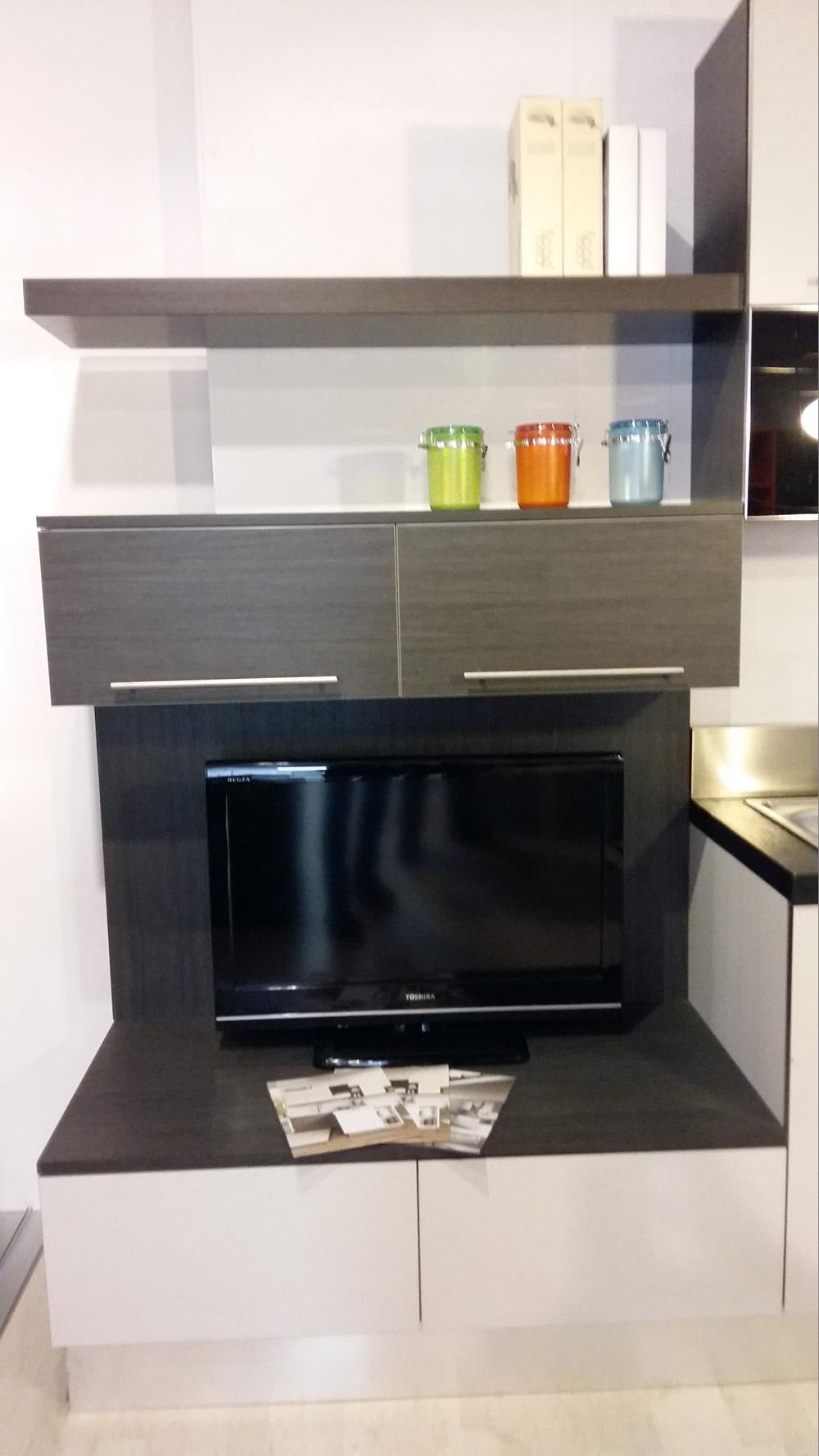 Aran cucine cucina bella moderno laminato materico bianca - Anta cucina laminato ...