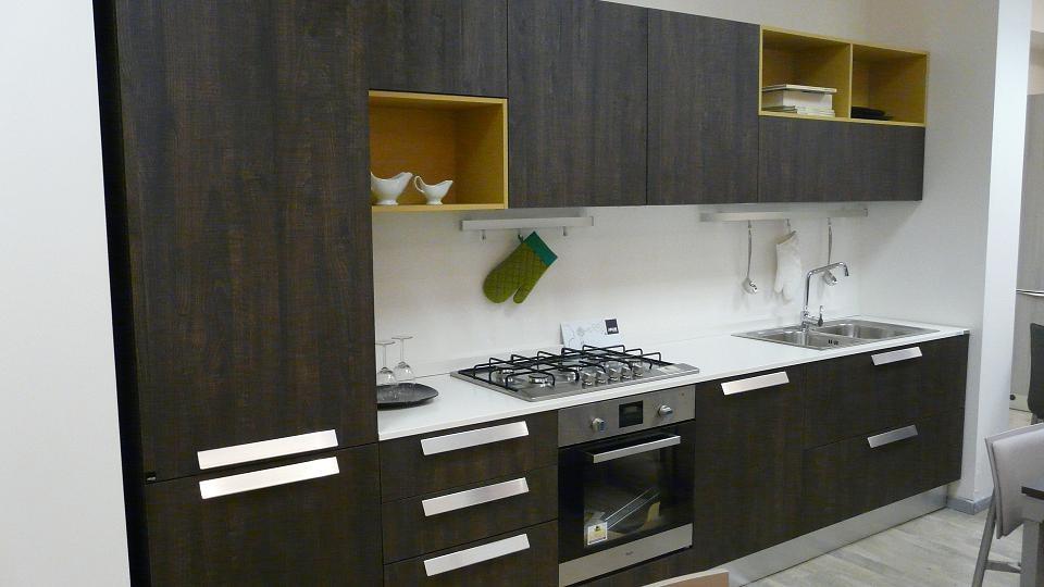 aran cucine cucina erika moderna laminato materico cucine a prezzi scontati. Black Bedroom Furniture Sets. Home Design Ideas