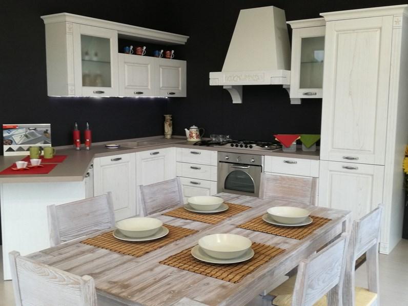 Cucina angolare con penisola gentili cucine mod olivia scontata del 45 cod 06 - Cucina angolare con penisola ...