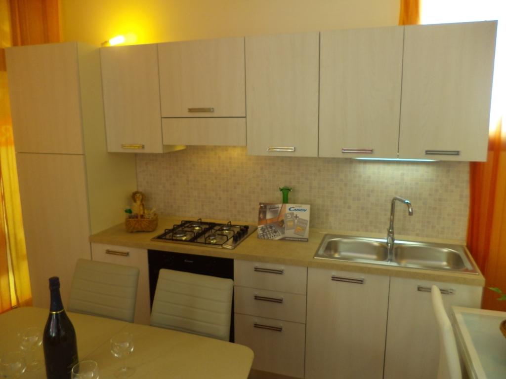 Cucina lineare di tre metri completa di elettrodomestici for Frigo due ante