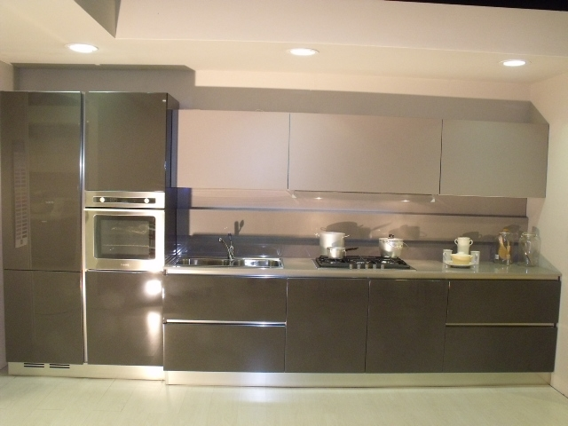 Cucina arredo3 time moderno laccato lucido antracite for Cucina verona arredo 3