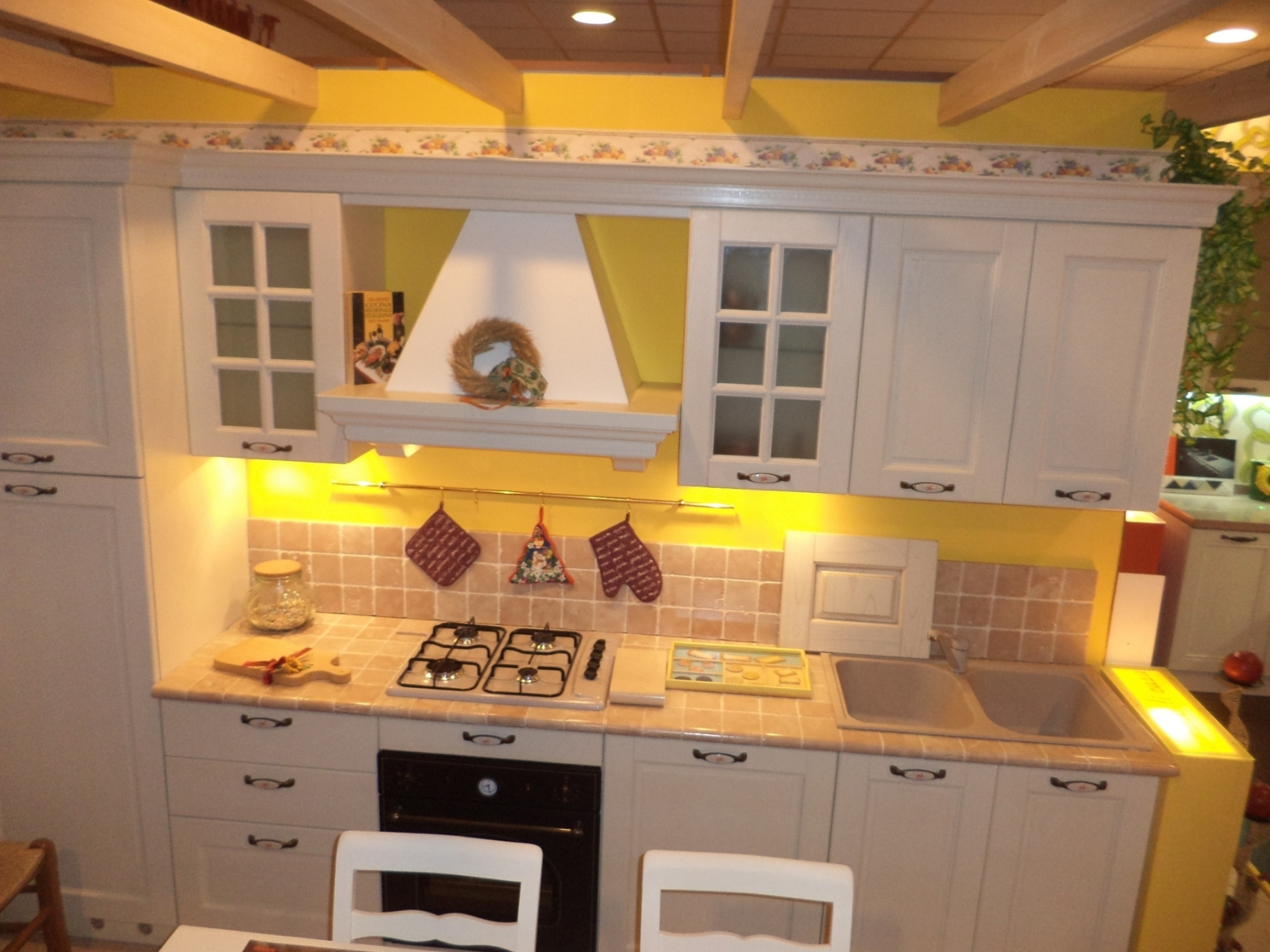 Arredo3 cucina virginia country legno bianca cucine a prezzi scontati - Cucina country bianca ...