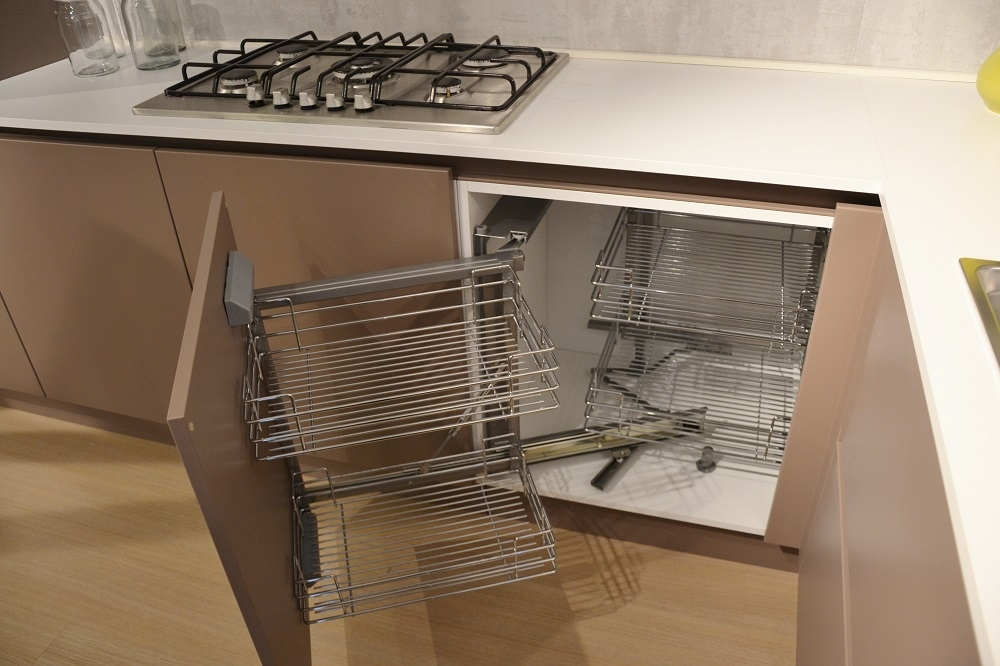 Arrital cucine cucina ak 03 moderna laccato opaco tortora - Cucina doppio angolo ...