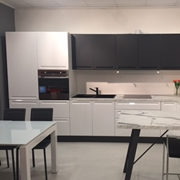Artec Cucina Isla Moderne Polimerico Lucido Bianca