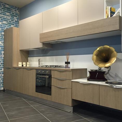 Artre cucina tao moderna laminato materico neutra con zona for Cucina moderna altezza