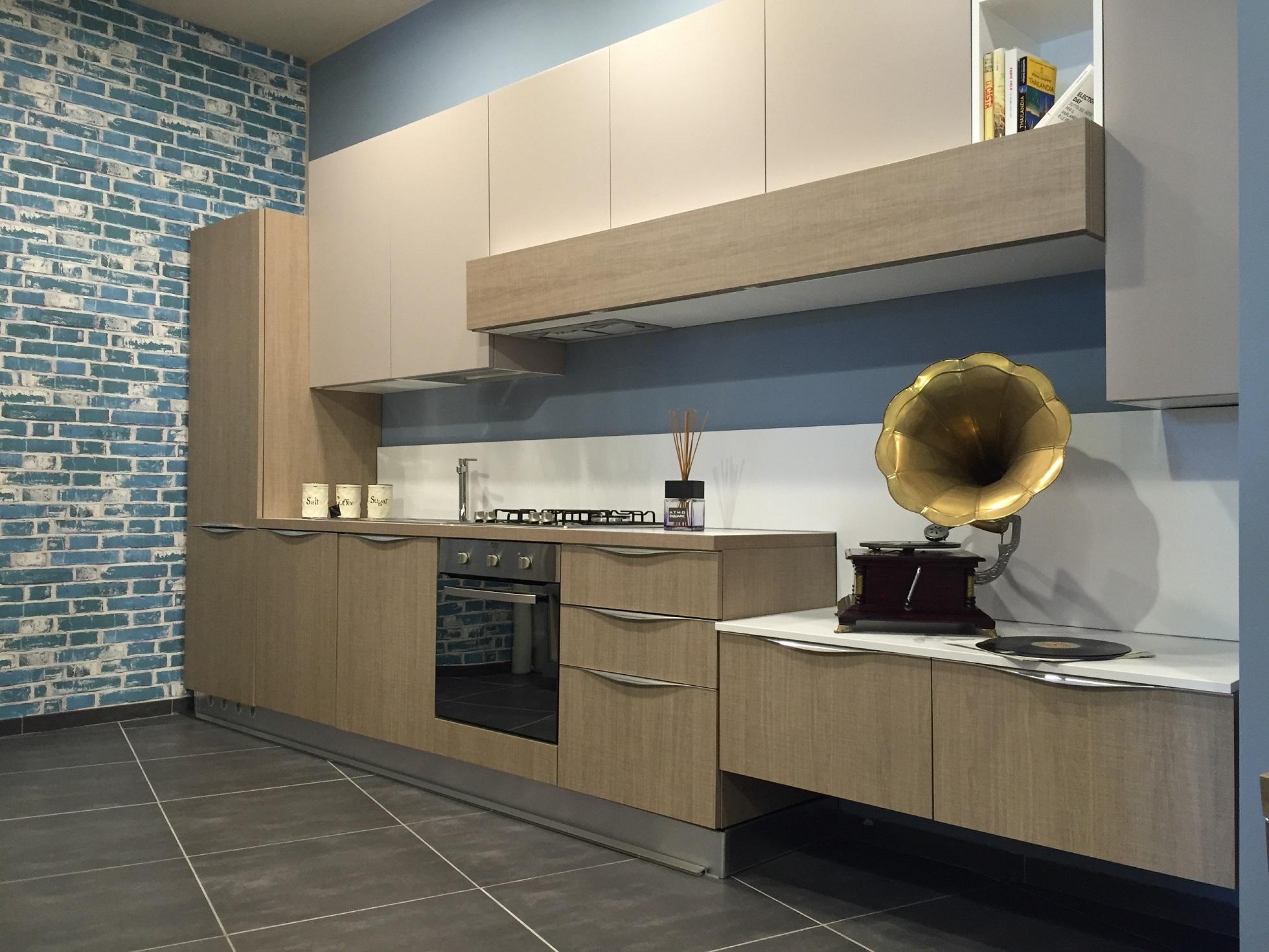 Artre cucina tao moderna laminato materico neutra con zona for Zona living moderna