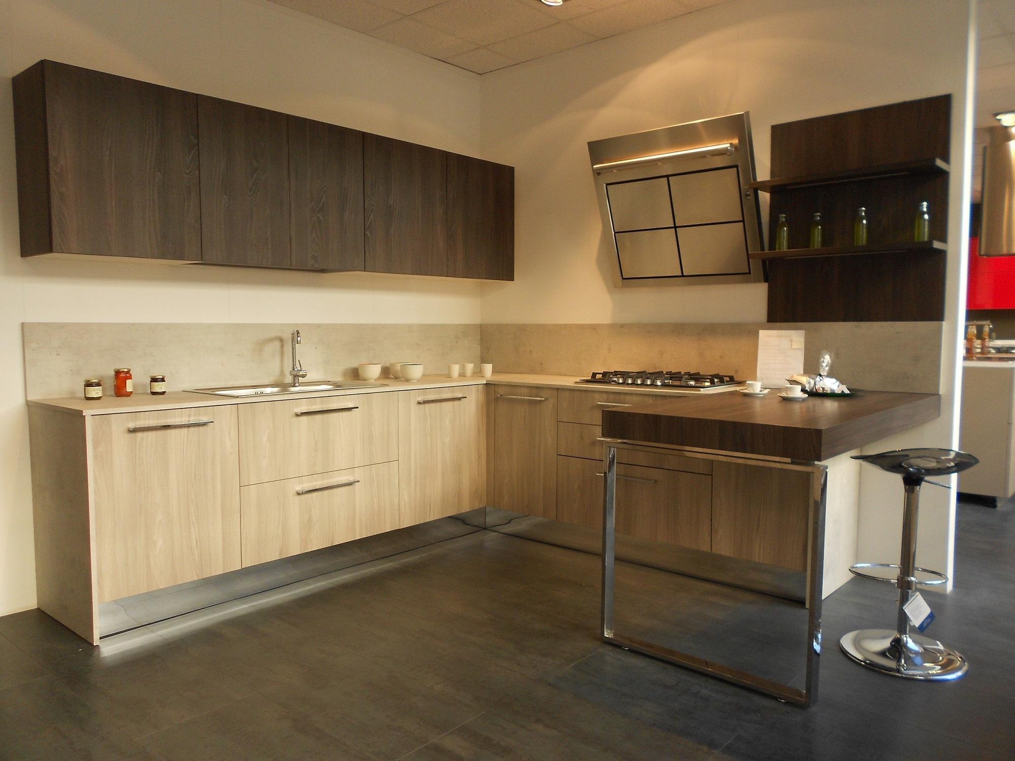 astra cucine cucina sp 22 moderna laminato materico neutra