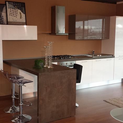 Cucina colombini glossy moderna laminato lucido bianca - Laminato in cucina ...