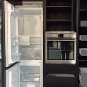 colonne attrezzate per cucina miton mt 210 fenix nero complete di elettrodomestici