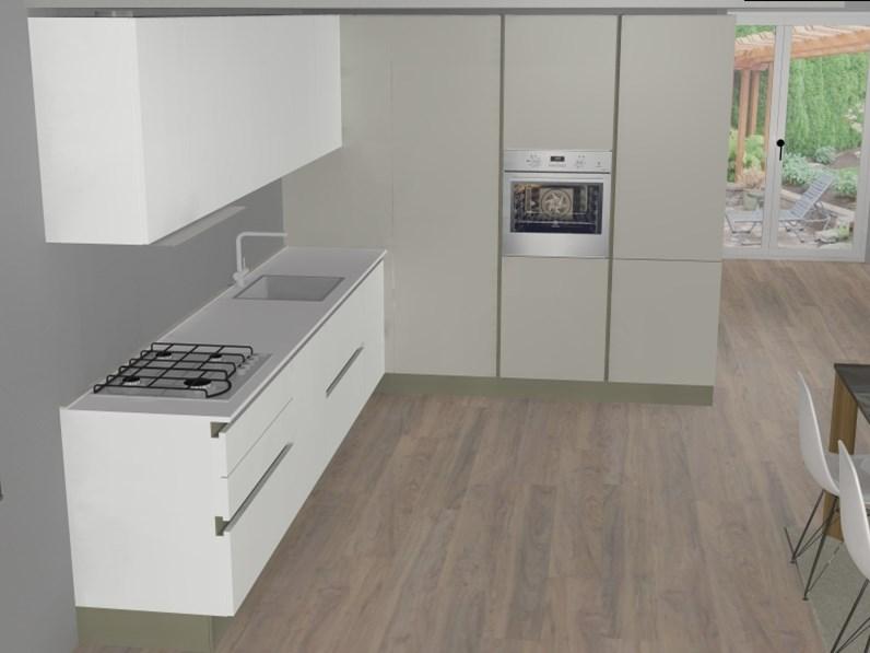 Composizione gentili cucine ad angolo in finitura pet opaco - Composizione cucina ad angolo ...