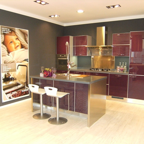 Cucine scavolini modello crystal idee per il design - Divano color prugna ...