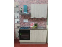 Cucina 150 cm colore rovere moderna lineare Jenny - Offerta Outlet
