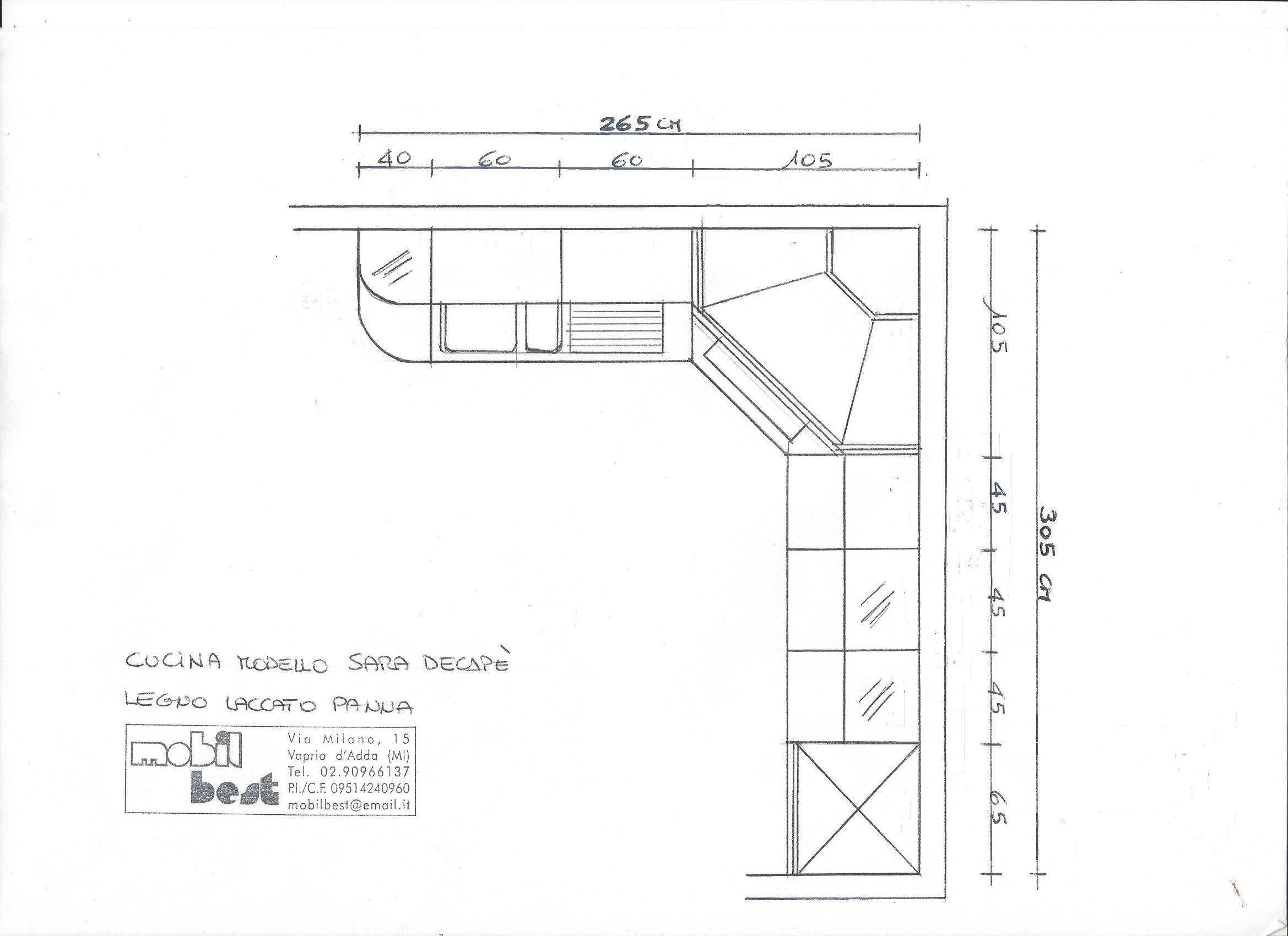 Cucina ad angolo misure design casa creativa e mobili - Mobili cucina misure ...