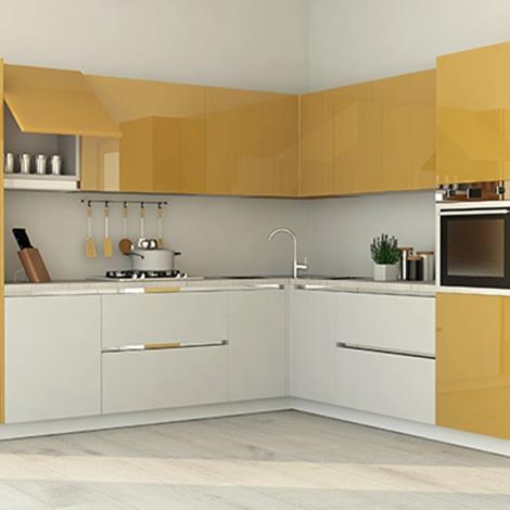 Cucina ad angolo completa di elettrodomestici nuova a - Cucine con forno ad angolo ...