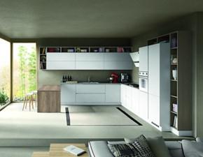 Cucina ad angolo Cucina componibile mod.stella versione laminato bianco venato e rovere grigio Artigianale con un ribasso del 31%