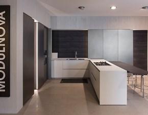 Cucina ad angolo Cucina light Modulnova con un ribasso vantaggioso