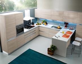 Cucina ad angolo design Irma S75 a prezzo ribassato
