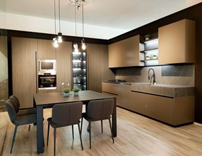 Cucina ad angolo design Mod bluna  Binova a prezzo scontato