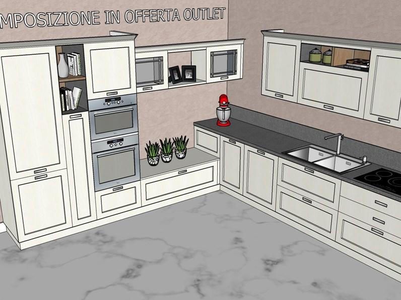 Cucina ad angolo fiorella ar due con un ribasso del 40 - Cucine ar due ...