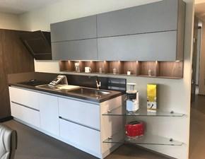 Cucina ad angolo in laccato opaco bianca Antis a prezzo ribassato