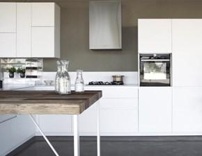 Cucina ad angolo in laccato opaco bianca Forty/5 a prezzo ribassato