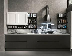 Cucina ad angolo in laccato opaco grigio Componibile a prezzo ribassato