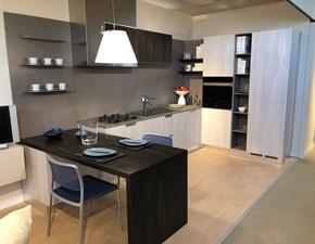 Cucina ad angolo in laminato materico a prezzo ribassato
