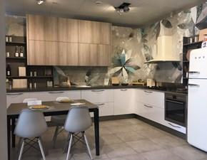 Cucina ad angolo in laminato materico a prezzo scontato 62%